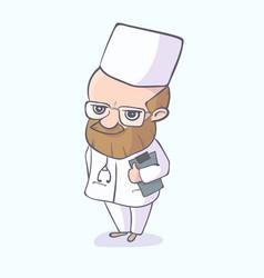 doctor character standing vector image
