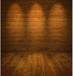 Empty wooden room vector image