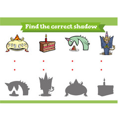 Find correct shadow educational game vector