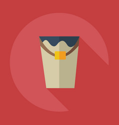 Flat modern design with shadow icons paint bucket vector