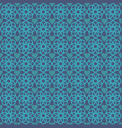 flower love abstract pattern blue vector image