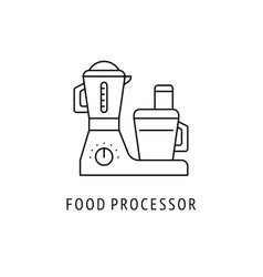 food processor kitchen appliances icon vector image
