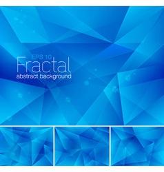 Fractal blue vector