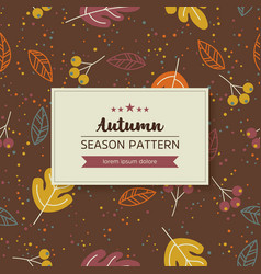 geometric pattern of autumn leaves and twigs vector image