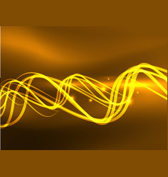 Glowing shiny wave background vector