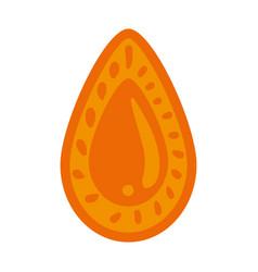 Golden ethnic mandala decorative with drop shape vector