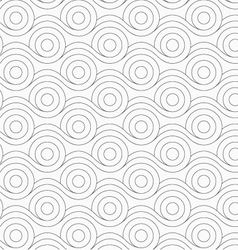 Gray circles merging with wavy lines vector