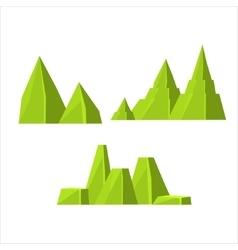 Green Rock Elements Set vector