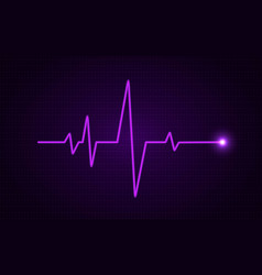 Heart pulse concept glowing medical line vector