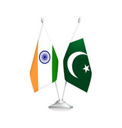 india and pakistan flags vector image