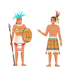 Indians maya civilization historical heritage vector