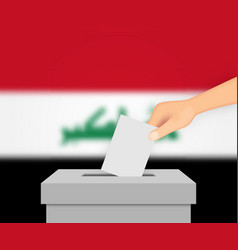 Iraq election banner background vector