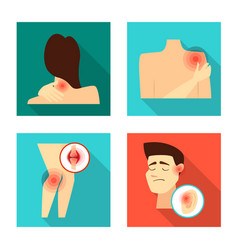 Isolated object damage and wound sign vector