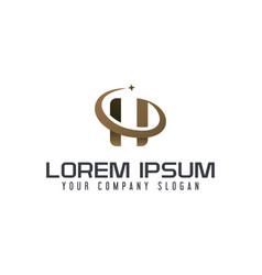 letter h logo business design concept template vector image
