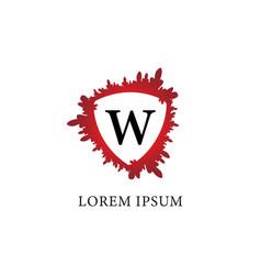 Letter w alphabet logo design template splash of vector