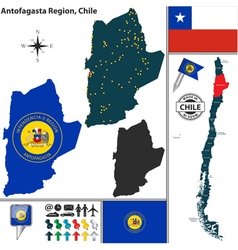 Map of Antofagasta vector