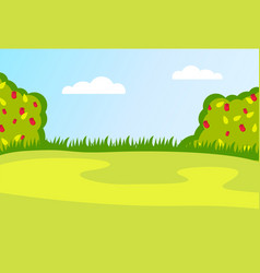 meadow or field with rose vector image