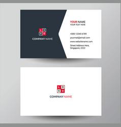 Minimalist grey business card design vector