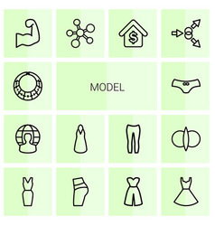 Model icons vector