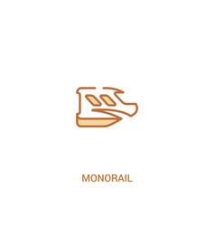 Monorail concept 2 colored icon simple line vector