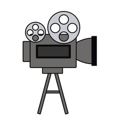 Movie reel equipment vector