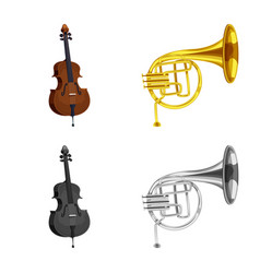 Music and tune icon set of vector