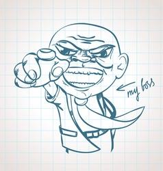 my boss vector image
