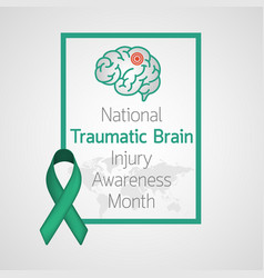national traumatic braininjury awareness month vector image