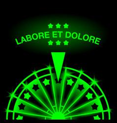 neon casino gaming machine vector image