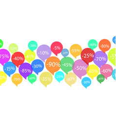 offers discount tags on white stock vector image