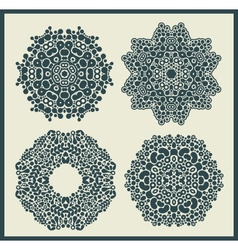 Ornamental round and stars patterns vector image