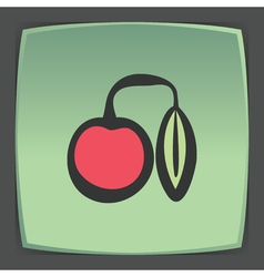 outline cherry fruit icon Modern infographic logo vector image
