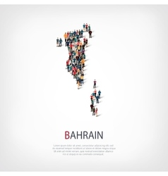 People map country bahrain vector