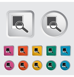 Photo search icon vector image