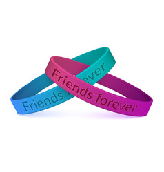 realistic silicone friendship wristbands vector image