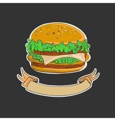 Retro Burgers emblem vector