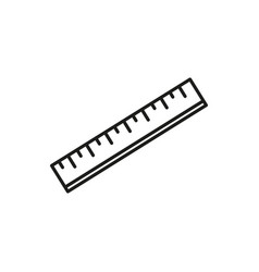 school ruler icon vector image