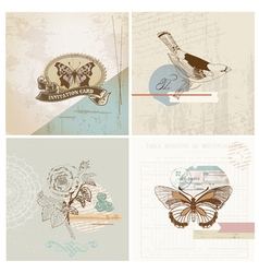 Scrapbook Design Elements - Vintage Paper Set vector image