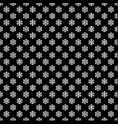Seamless black and white geometric snowflake vector