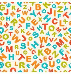 Seamless pattern with letters of alphabet vector