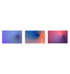 set four backgrounds in differents colors made vector image