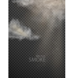set of clouds and smoke on transparent vector image