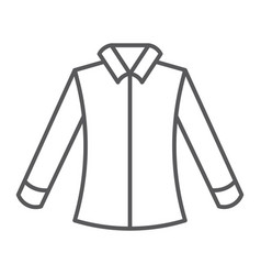 Shirt thin line icon clothing and formal blouse vector