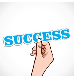 success word in hand vector image