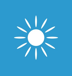 sun icon white on the blue background vector image