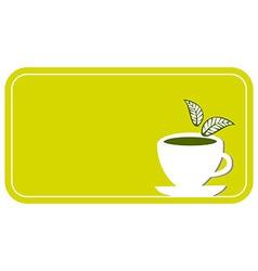 tea cup label vector image