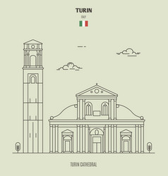 turin cathedral italy vector image