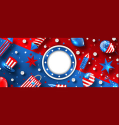 usa flag colors background for american holidays vector image