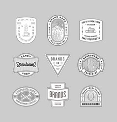 Vintage logo insignia badge set 6 vector