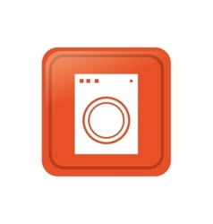 Washer laundry machine vector